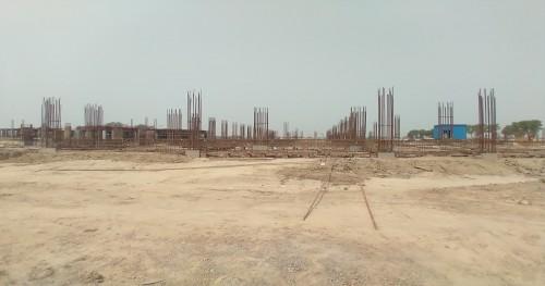Academic block – 2nd pit soil filling work in completed grade slab works in progress 04.05.2021