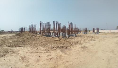 Non Teaching Staff Residence –  steel work in progress shear wall casting work in progress 30.03.2021