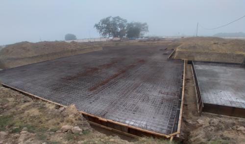 Hostel Block H5 – steel placing & binding work second layer in progress - (14-12-2020)