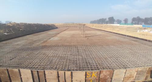 Academic block – 1st pit steel work in progress (21.12.2020)