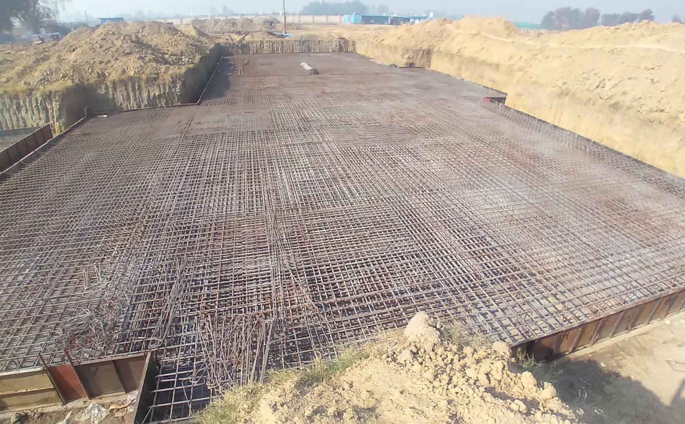 Hostel Block H7 – Steel placing & binding work – second layer work in complete (21.12.2020)