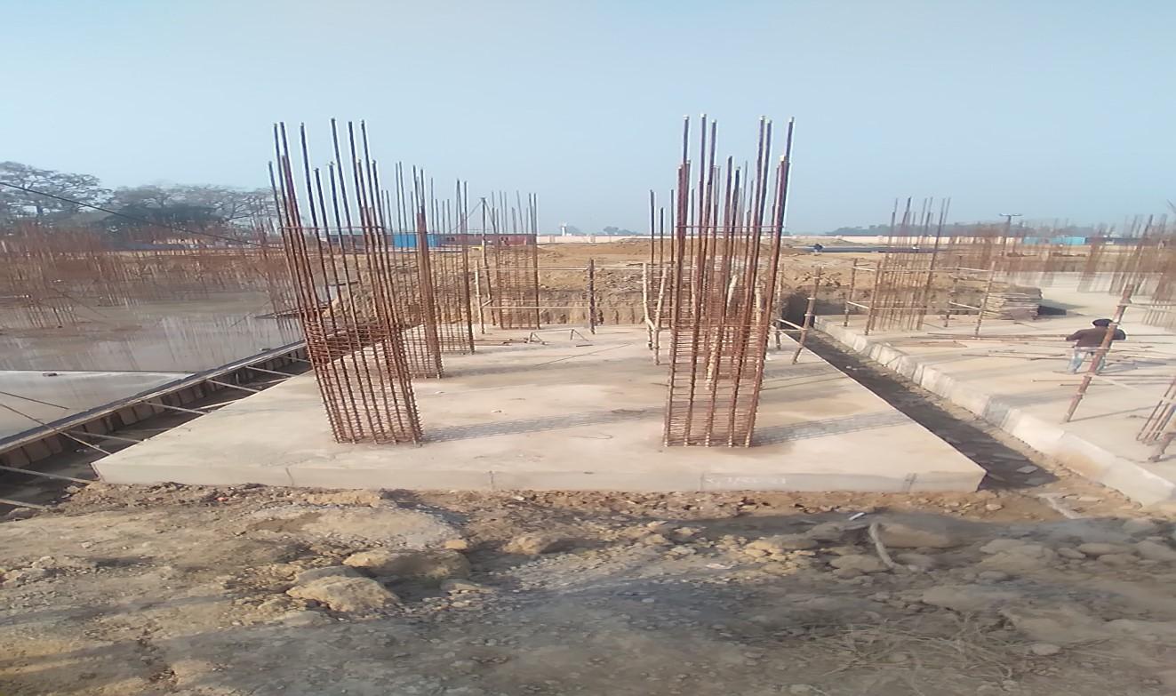 Hostel Block H6 – Raft RCC work Completed 01.02.2021