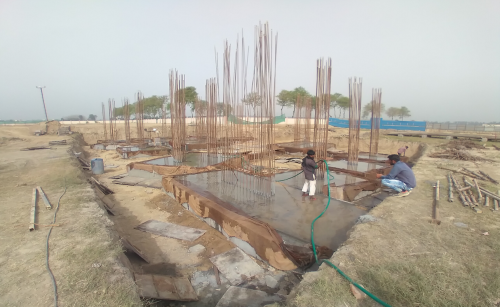 INCUBATION – RCC Footing work in completed layout work in progress