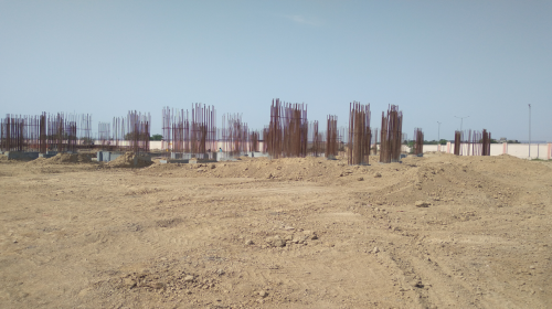 Non Teaching Staff Residence – shear wall casting work in completed 12.04.2021