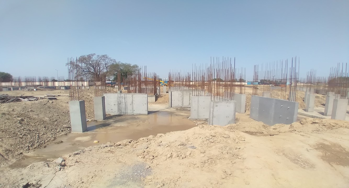 Hostel Block H5 – Column casting work in completed 12.04.2021