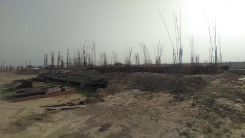 Professor's residence – Soil filling work in completed grade slab beam casting work in progress 11.05.2021