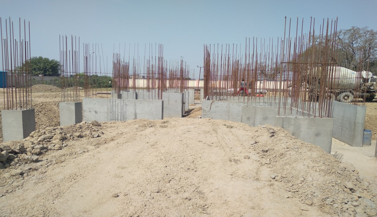 Hostel Block H1 –  Column casting work in completed 12.04.2021