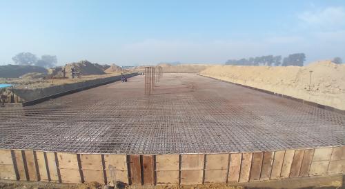 Academic block – 2nd pit steel work in progress (21.12.2020)