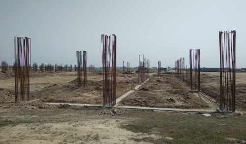 CAFETERIA & SHOPPING - RCC Footing  work completed steel work in progress PCC work in progress 30.03.2021-