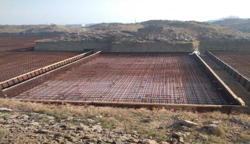 Hostel Block H4 – steel placing & binding second layer in progress (01-12-2020)