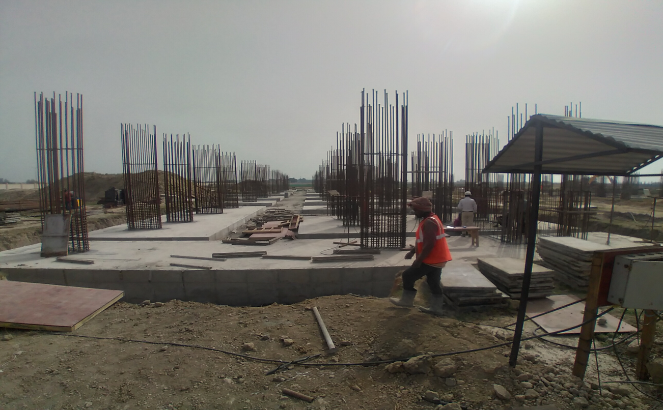 Faculty & Admin block –   steel work in progress layout works in completed 15.03.2021