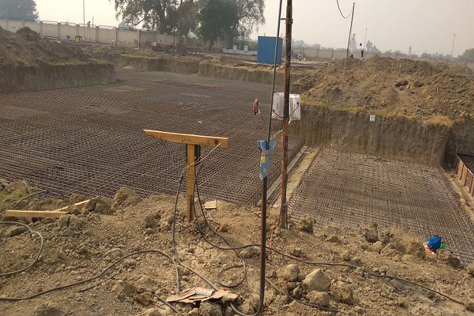 Hostel Block H5&H6 – steel placing & binding work second loyer in progress (9-11-2020)