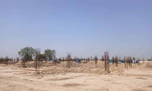 Dinning block –  soil filling work in completed  grade slab works in progress 17.05.2021