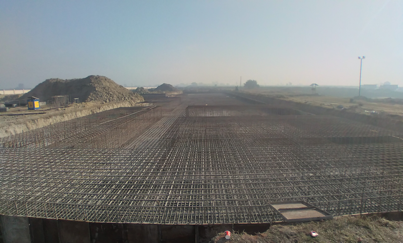 Faculty & Admin block –  Raft steel placing in progress (21.12.2020)