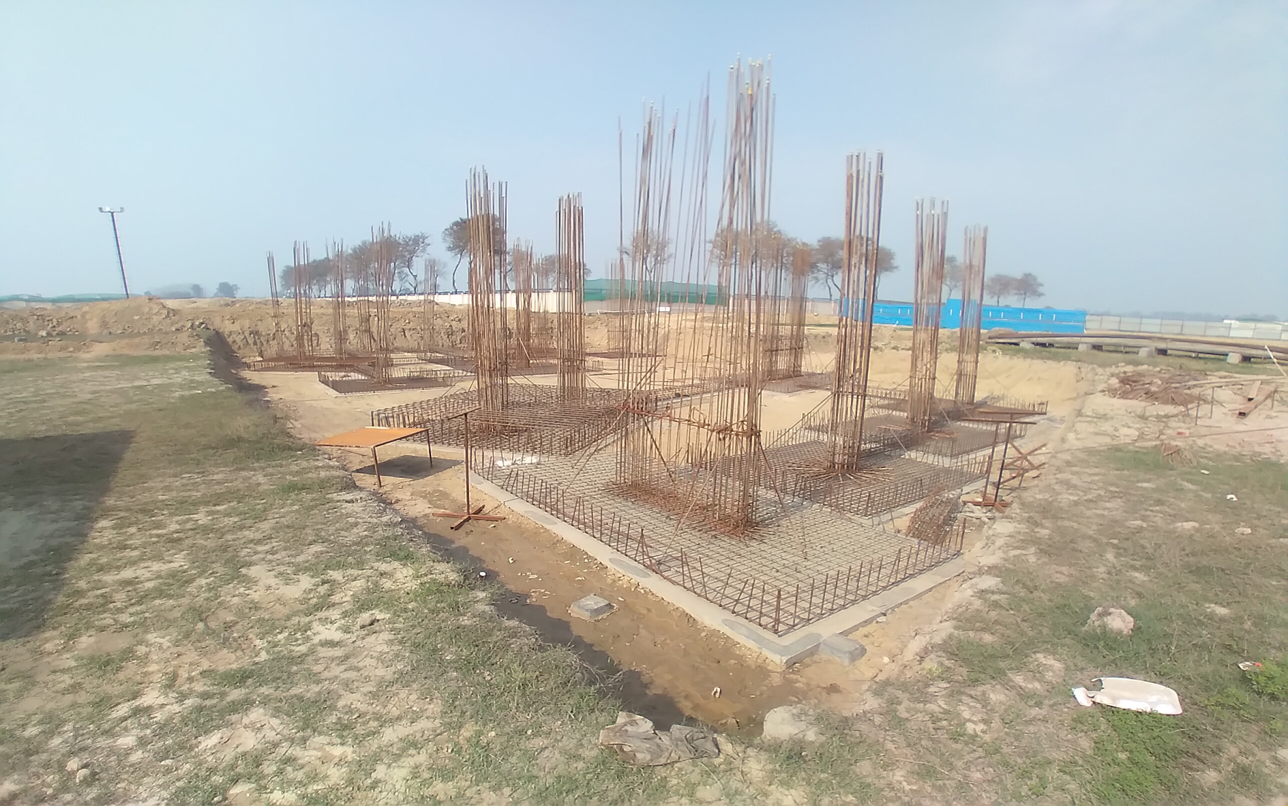 INCUBATION – Footing steel work in progress layout in progress 23.02.2021