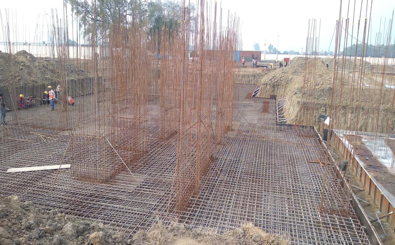 Hostel Block H5 – steel placing & binding work second layer in progress 05.01.2021