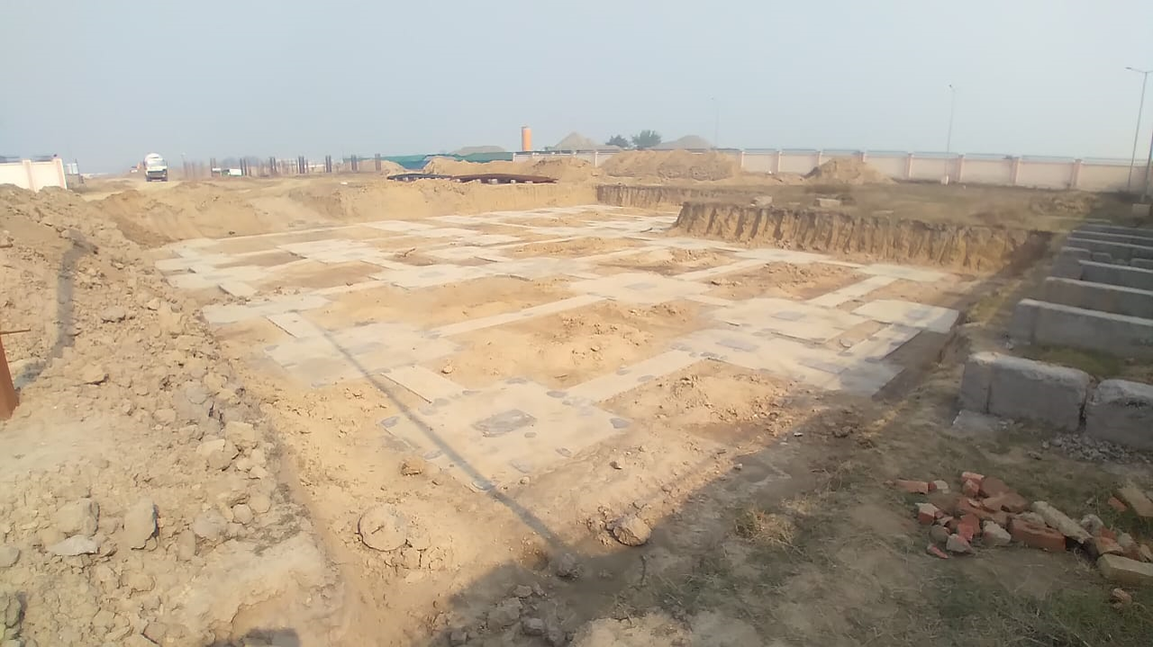 COMMUNITY CENTER -Footing PCC work completed & layout in progress 25.01.2021