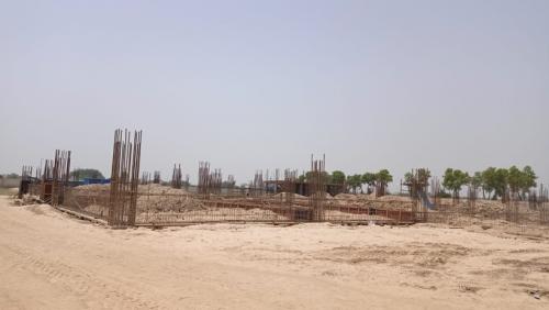 Dinning block –  soil filling work in completed  grade slab works in progress 31.05.2021