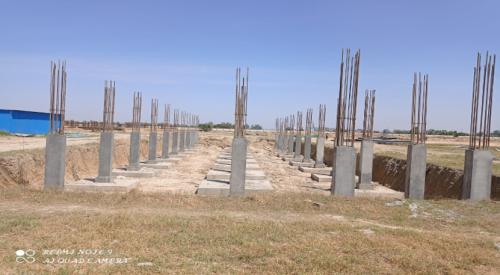 HVAC PLANT ROOM -  column casting works in completed 19.04.2021