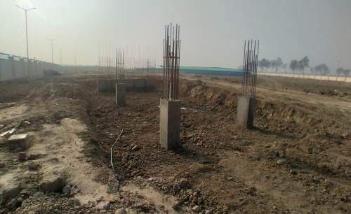 WAITING ROOM - RCC footing in complete column casting work in completed 08.02.2021