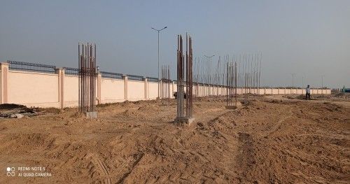 WAITING ROOM - RCC footing in complete column casting work in completed 23.02.2021
