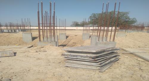 Hostel Block H2 –  column casting completed 26.04.2021