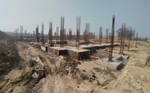 SPORTS COMPLEX – Footing steel work in progress, RCC work in progress 08.02.2021