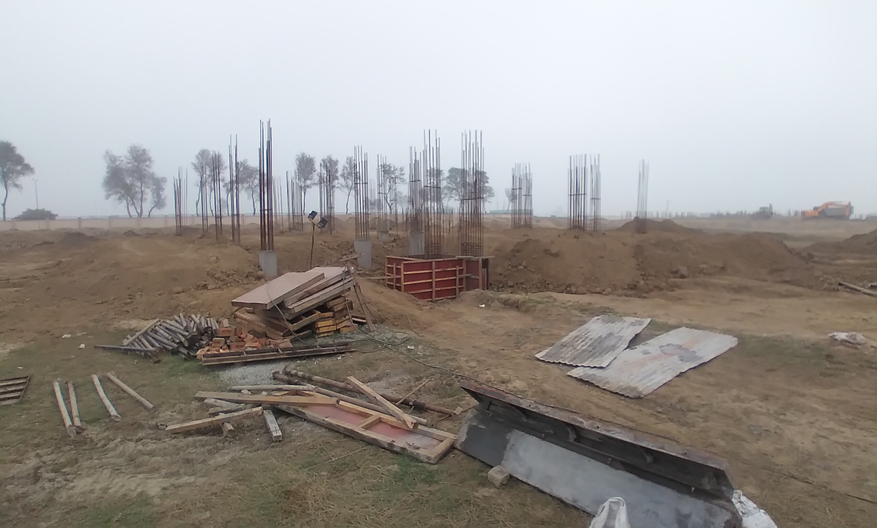 Director's residence – Column casting work in completed 16.02.2021