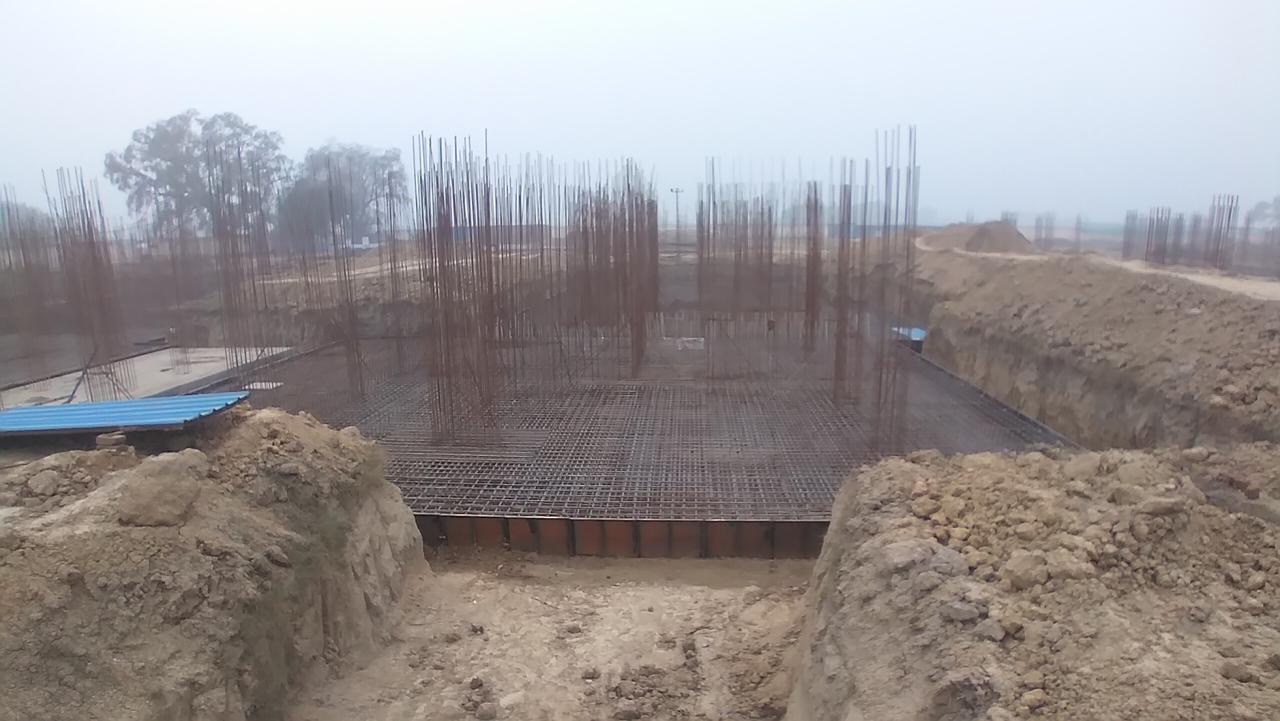 Hostel Block H7 – Steel placing & binding work – Column work in complete 11.01.2021