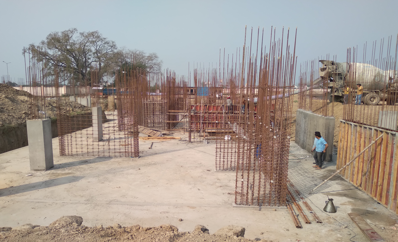 Hostel Block H5 – column layout work in progress &column casting work in progress 09.03.2021