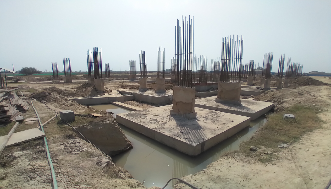 LIBRARY- column casting works in competed 30.03.2021