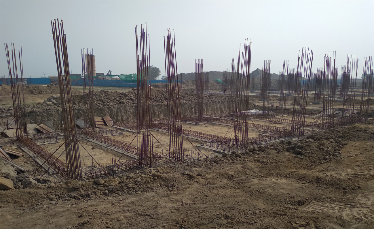 HEALTH CENTRE-Footing steel  work in progress 23.02.2021