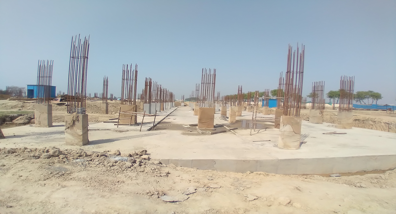Academic block – 1st pit Column casting work in completed 30.03.2021