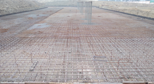 Academic block – 1st pit steel work in progress (28.12.2020)