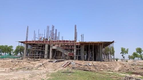 Director's residence – Column casting  work in completed slab shuttering work in progress 24.05.2021