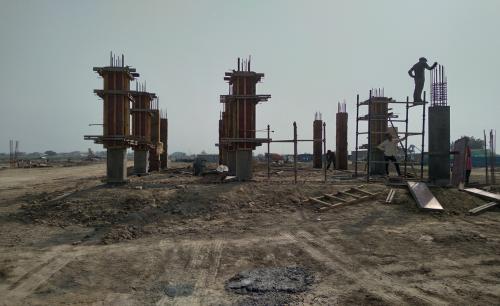 COMMAND CENTER – filling work in progress column casting work in progress 09.03.2021