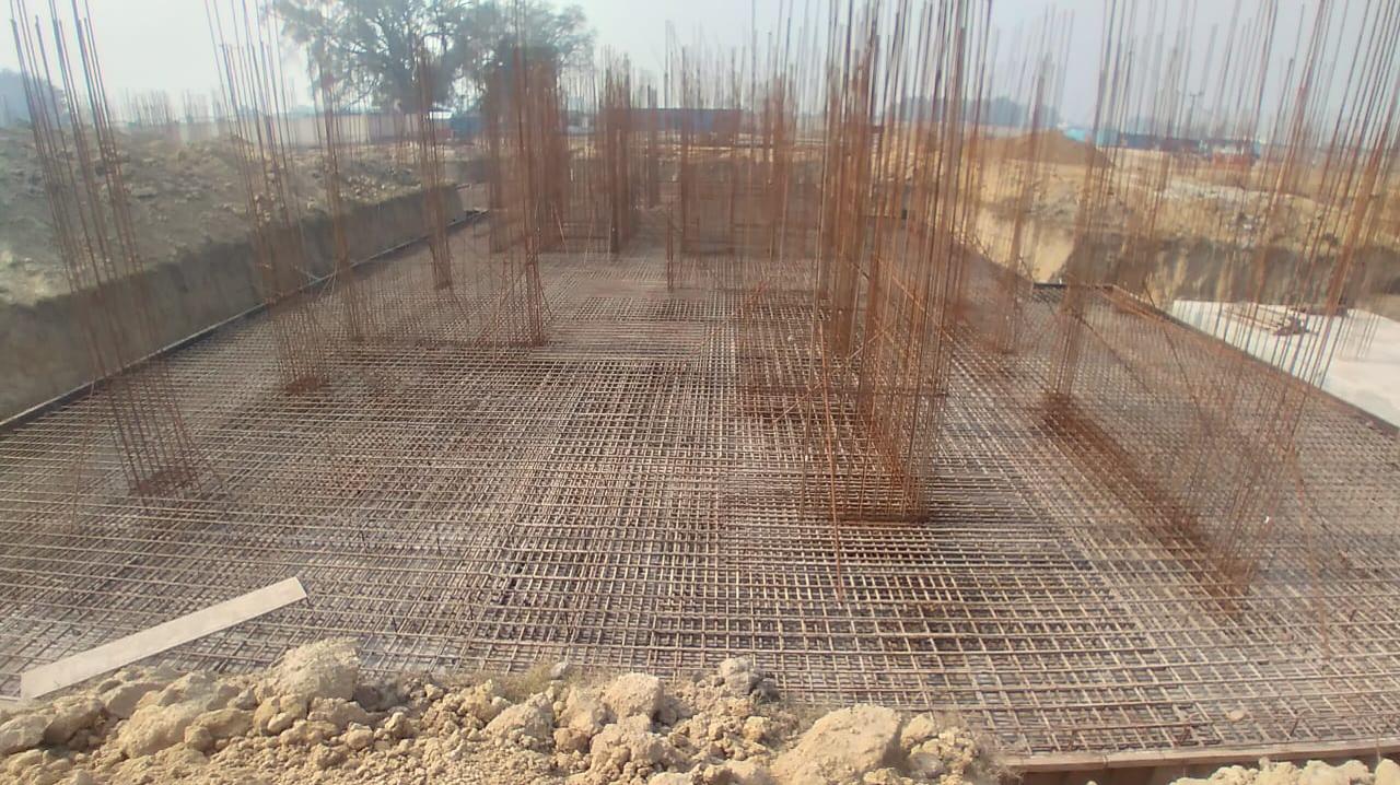 Hostel Block H5 –  steel placing & binding second layer in progress 25.01.2021