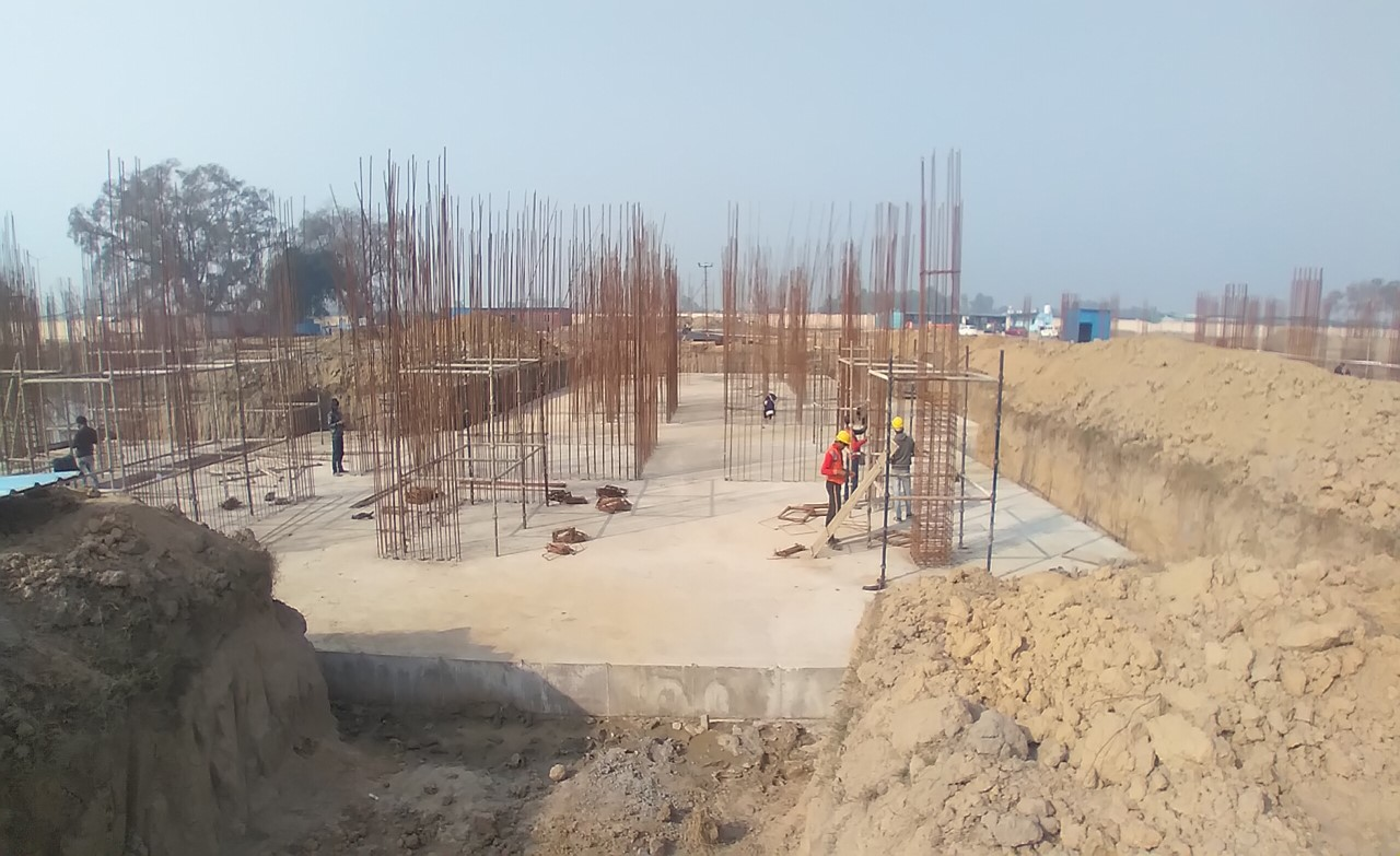 Hostel Block H7- Raft RCC work Completed layout in progress 01.02.2021