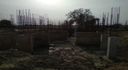 Hostel Block H3 – Raft RCC work completed column casting work in progress 22.03.2021