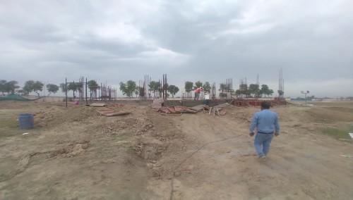 Director's residence – Grade slab shuttering work in progress 05.04.2021