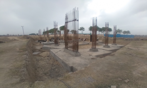 INCUBATION – RCC Footing work in completed column casting work in progress 05.04.2021