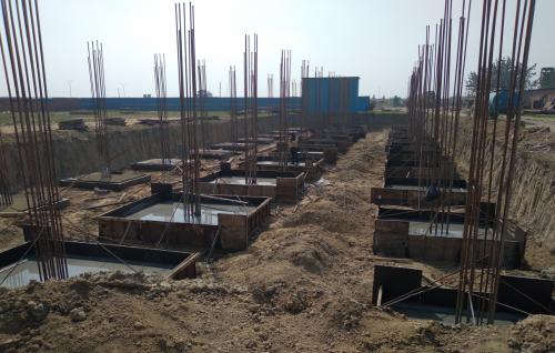 HVAC PLANT ROOM -  Footing steel work in completed & footing casting work in completed 01.03.2021