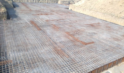Hostel Block H3 – steel placing & binding second layer in progress (21.12.2020)
