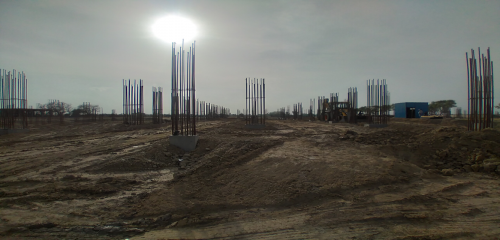 Academic block – 2nd pit column casting work in completed 22.03.2021