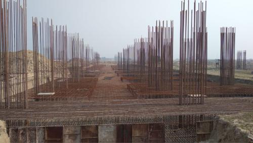 Faculty & Admin BlockFaculty & Admin block –  Raft steel placing in progress 25.01.2021
