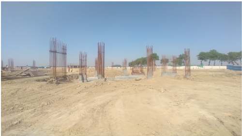 INCUBATION – RCC Footing work in completed column casting work in completed 26.04.2021
