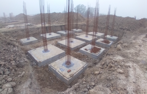 COMMAND CENTER –footing RCC work completed 11.01.2021