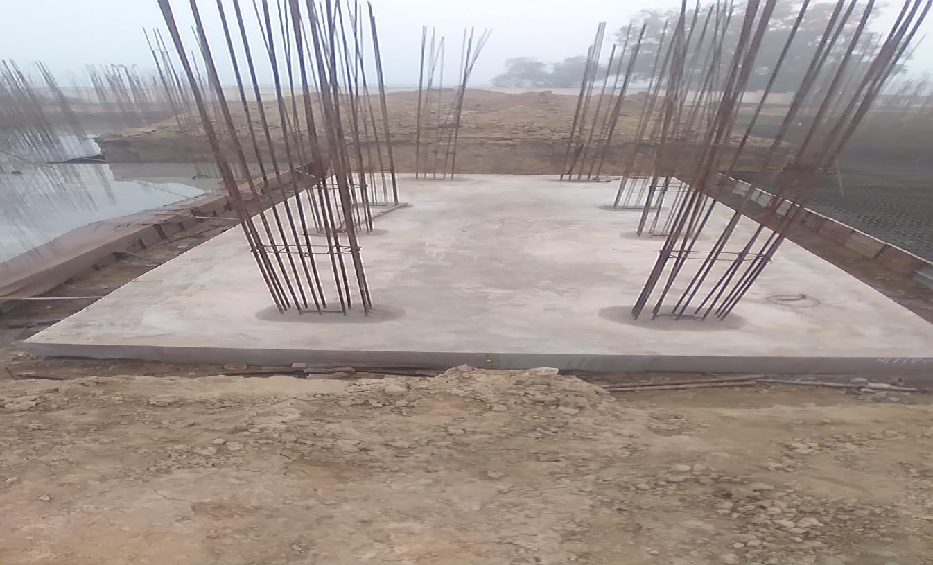 Hostel Block H6 – Raft RCC work Completed 18.01.2021