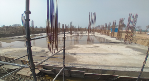 Academic block – 1st pit RCC raft work in Completed 23.02.2021