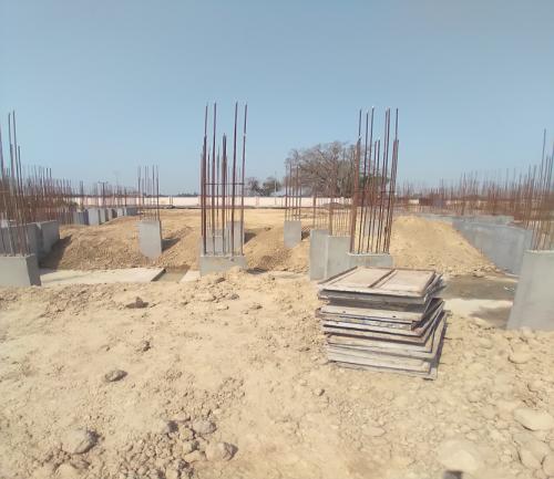 Hostel Block H2 –  column casting completed 30.03.2021
